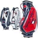 【月間優良ショップ受賞】 トミーヒルフィガー ゴルフ キャディバッグ メンズ 9.0型 約3.7kg 5分割 ブランド レア ホワイト ネイビー レッド 白 赤 紺 THMG1SC4・・・