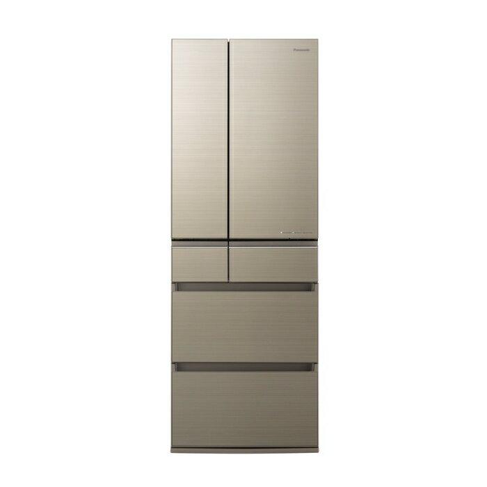 基本設置無料 東京23区近郊限定配送 パナソニック 500L 観音開き 6ドア 冷蔵庫 NR-F505HPX-N アルベロゴールド NRF505HPX