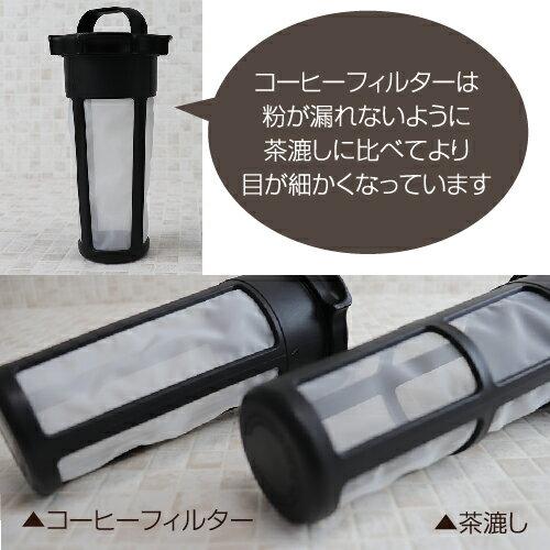 冷水筒タケヤ水出し専用コーヒージャグ2【熱湯OK横置きOK洗いやすい形状】