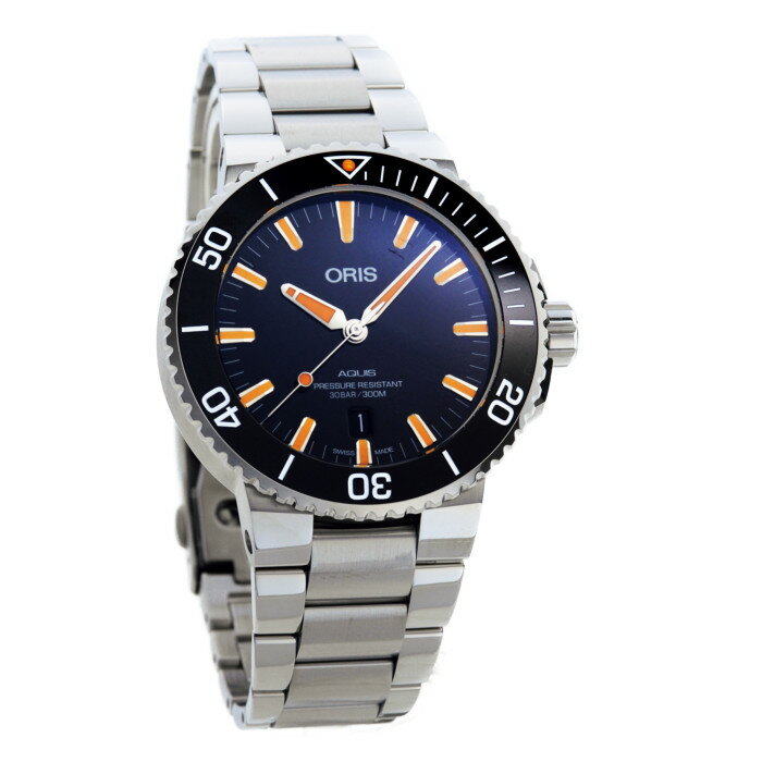 【!】オリス 733 7730 4159M メンズ腕時計 アクイス デイト|ORIS 男性 人気 おしゃれ アクイス ダイバーズウオッチ メタルベルト