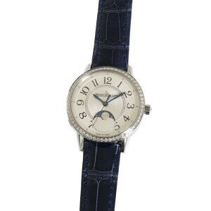 [Yamato] [Free shipping] Jaeger-LeCoultre Q3578430 Ladies' Watch Rendez-Vous Moon Medium | JAEGER LECOULTRE Women's Popular Brand Diamond Beautiful Fashionable Leather Blue Silver