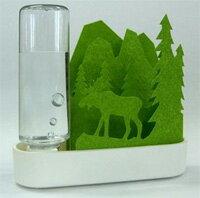 セキスイ 自然気化式ECO加湿器うるおい ちいさな森  グリーン エルク ULT-EL-GR