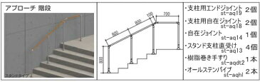 屋外用介護手すりセット(玄関アプローチ階段)