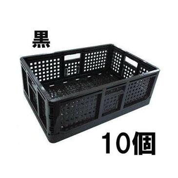 日本製 マル特 AZ カラー 折りたたみコンテナー 黒 10個単位 折り畳みコンテナ 法人/個人選択 [採集箱 瀧商店]