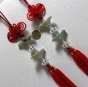 美しい天然石で彫刻された中国結び飾りもの  インテリア装飾...