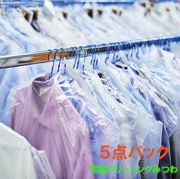 衣類5点パック 送料無料 宅配クリーニング