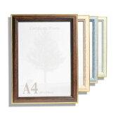 額縁(がくぶち) 木製 【9009】A4 スタンド付き賞状額 額縁(がくぶち)木製 ポスターフレーム A4・OAサイズ 10P01Oct16