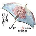 ほぐし織 桜 甲州織 傘 婦人/長傘/8本骨/日本製/名前入れ(刺繍)対象傘