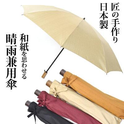 槙田商店 甲州織 絹シャンタン レディース 折りたたみ傘 晴雨兼用