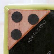 床の傷を守る保護シール(フェルトシール)付きスツール