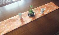 西陣織テーブルランナー・敷物・インテリアファブリック・ランナークロス・和風、長さ1m、メール便可【市松にやがすり】