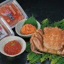 【蟹と魚卵の豪華セット!】ボイル毛ガニ400g×1尾鮭明太90gいくら醤油漬け90g