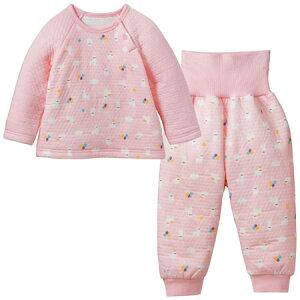 ぬくぬく素材&寝ている間にはだけないパジャマで赤ちゃんの寝冷えをガード!のびのび腹巻付き...