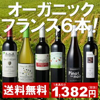 【送料無料】ワインセット フランス オーガニック ワイン 6本 セット ユーロリーフ認定入 パーティー 御祝 フランス産オーガニック 第9弾