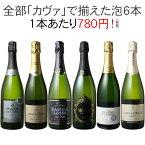 【送料無料】ワインセット カヴァ 6本 セット 辛口 シャンパン製法 瓶内二次発酵 スパークリングワイン カヴァだけ 第41弾