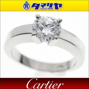Cartier カルティエ ダイヤ(D1.01ct E-IF) ソリテール デクララシオン ダムール リング PT950 プラチナ 日本サイズ約9号 #49【送料無料】【代引き手数料無料】指輪 レディース【中古】27841113