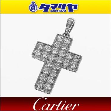 Cartier カルティエ ダイヤ クロス スクレ ドゥ ブドゥワール ペンダント 750 K18 WG ホワイトゴールド【送料無料】【代引き手数料無料】チャーム ネックレス【中古】33040518