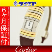 Cartier カルティエ ダイヤ デクラレーション 時計 750 K18 YG WG PG イエローゴールド ホワイトゴールド ピンクゴールド チタン 【送料無料】【代引き手数料無料】腕時計 レディース 【中古】26901103