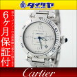 Cartier カルティエ パシャ 38 メンズ 750 K18 WG ホワイトゴールド 自動巻 AT シルバー文字盤 時計【送料無料】【代引き手数料無料】腕時計 男性【中古】26831114
