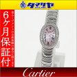 Cartier カルティエ ダイヤ ミニベニュワール WB5101L2 時計 750 K18 WG ホワイトゴールド ピンクシェル文字盤 クォーツ SWISS MADE【送料無料】【代引き手数料無料】レディース【中古】28450620