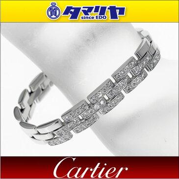 Cartier カルティエ ダイヤ パンテール ブレスレット 750 K18 WG ホワイトゴールド【送料無料】【代引き手数料無料】女性 レディース バングル【中古】29380511