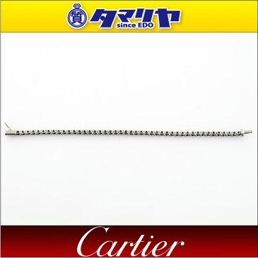 Cartier カルティエ ダイヤ テニスブレスレット 46Pダイヤ(約D4.60ct) Pt950 プラチナ 16.5cm【送料無料】【代引き手数料無料】レディース バングル【中古】29861109