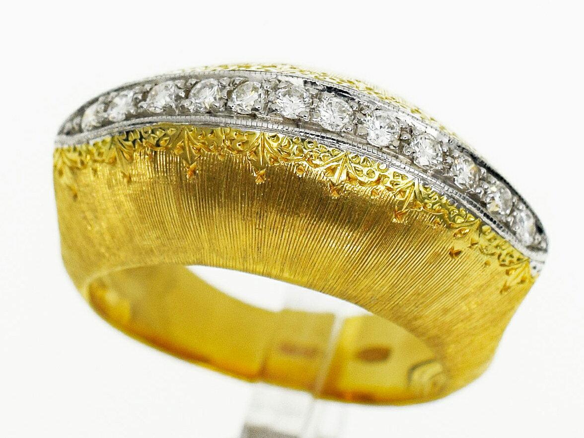 レディースジュエリー・アクセサリー, 指輪・リング Vintage Mario Buccellati (D0.30cts) K18 750 YG WG 14 5430120218