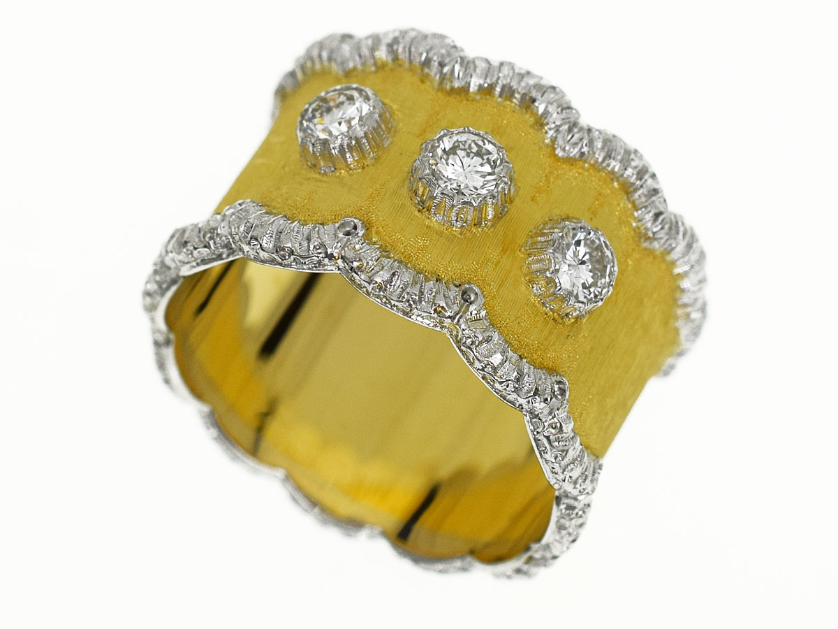レディースジュエリー・アクセサリー, 指輪・リング GIANMARIA BUCCELLATI (D0.39cts) 18K 750 YG WG 13 5330270406