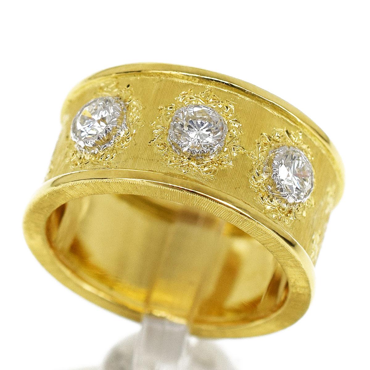 レディースジュエリー・アクセサリー, 指輪・リング GIANMARIA BUCCELLATI (D0.39cts) 18K 750 YG WG 8 4829971201
