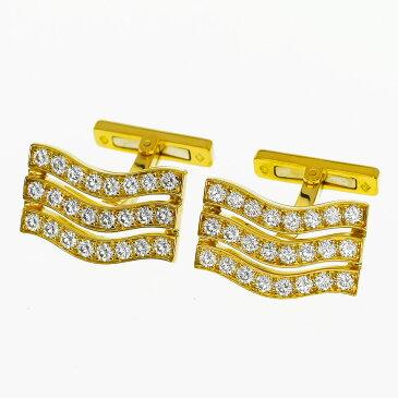 Cartier カルティエ ダイヤ 3Row カフス K18 750 YG イエローゴールド【送料無料】【代引き手数料無料】【中古】31280453