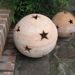 テラコッタオーナメントボール(星柄L)直径30cm