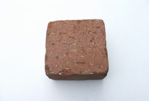 1.25kg/アンティーク調レンガ半マスブラウンBRサイズ100×100×60mm[煉瓦 れんが ブロック 花壇 タイル ハーフサイズ]