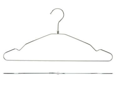 シングルワイヤーハンガークロームメッキ肩幅42cm
