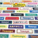 セミ オーダー 7.5cm 英字Aタイプ ワッペンスポーツ少年団 ( スポ少 ) 学校 部活 や 会...