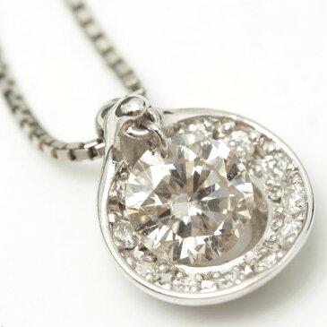 ダイヤモンド ネックレス プラチナ 0.51ct 0.10ct 44cm Pt850 10338【中古】