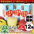【送料無料】青研の葉とらずりんごジュース 1000g×12本入り 葉とらずりんご100 ストレート100% 青森 りんごジュース【SS 】