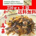 からし高菜(辛子高菜)250g 2袋 1000円ポッキリ 厳選された福...