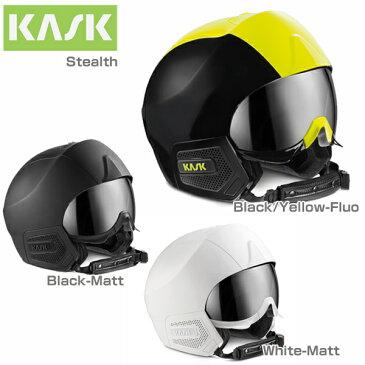 【18-19 NEWモデル】KASK〔カスク スキーヘルメット〕<2019>STEALTH〔ステルス〕 バイザー付き 〔HG〕