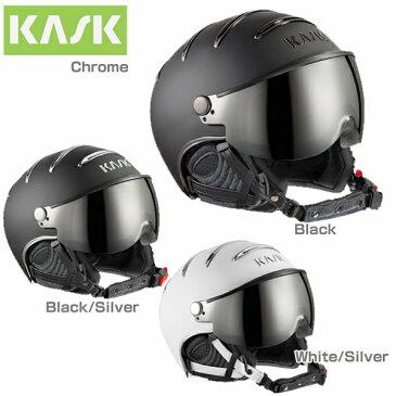 KASK〔カスク スキーヘルメット〕<2018>CHROME〔クローム〕 バイザー付き 〔HG〕