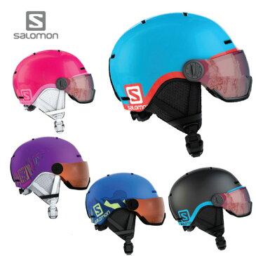 【18-19 NEWモデル】SALOMON〔サロモン ジュニア スキーヘルメット〕<2019>GROM VISOR