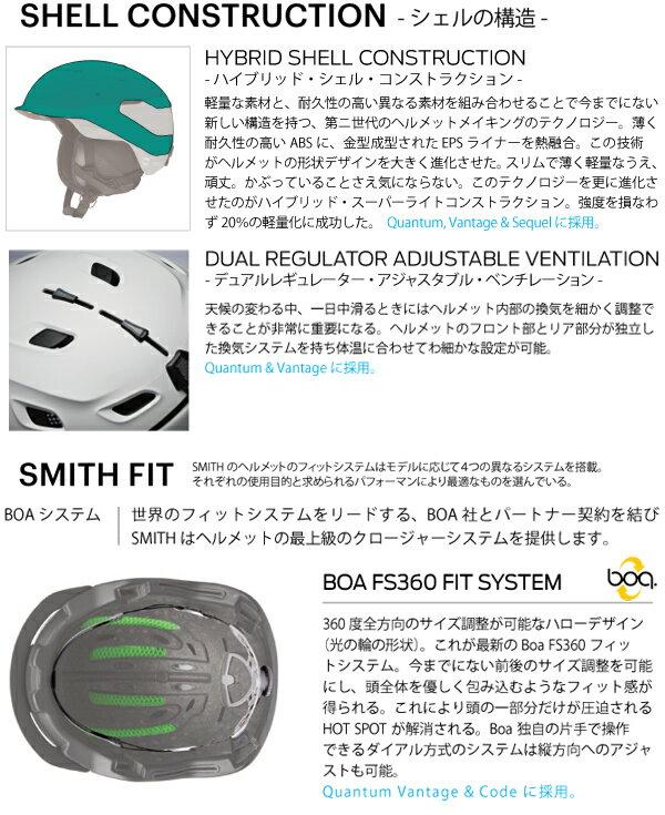 SMITH〔スミススキーヘルメット〕<2019>QuantumMips〔クウォンタム〕【boa搭載】【送料無料】