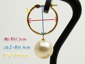 【アコヤ真珠】K18YG/PG製9mmフープピアス【送料無料】【対応】【smtb-m】