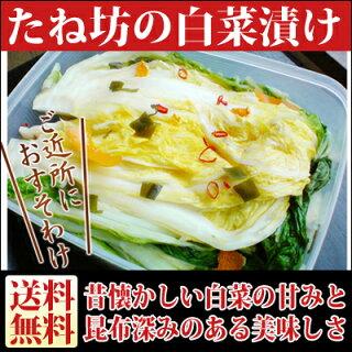 たね坊の白菜漬け【送料無料】【冬季限定】白菜の美味しいこの季節しか販売しません!!お正月用にオススメ♪02P05Dec15