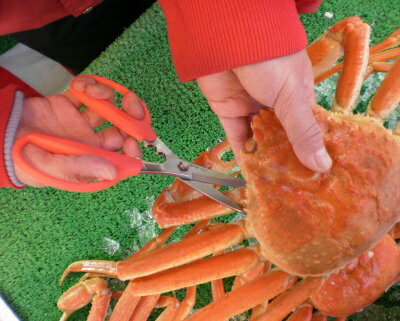 ★Birmy<カニチョキ>蟹専用調理はさみ【蟹ハサミ】【蟹はさみ】【キッチンバサミ】【キッチンばさみ】【調理バサミ】【カニチョキ】