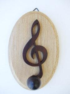 音符型 木製ト音記号キーハンガー【ラウンド】10P26mar10