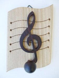 音符型 木製ト音記号キーハンガー【スコア】10P26mar10