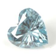 ブルーダイヤモンド(トリートメント)ルース(裸石)0.034ctアイスブルー系ハートシェイプ