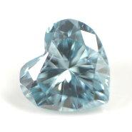 ブルーダイヤモンド(トリートメント)ルース(裸石)0.035ctアイスブルー系ハートシェイプ