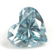 ブルーダイヤモンド(トリートメント)ルース(裸石)0.036ctアイスブルー系ハートシェイプ