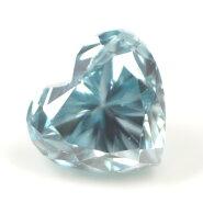 ブルーダイヤモンド(トリートメント)ルース(裸石)0.039ctアイスブルー系ハートシェイプ